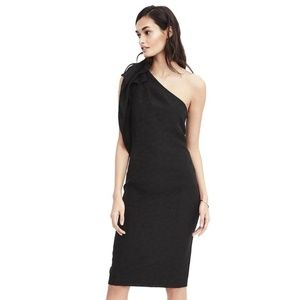 Banana Republic One Shoulder Bow Dress